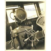 1938 Press Photo Metal Mike helmsman Steer ship human - RRW43623