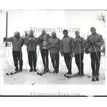 1959 Press Photo Ski Diving Slope Swim Gernard Hafer