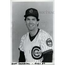1990 Press Photo Scott Sanderson Chicago Cubs Pitcher - RRW73465