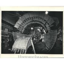 Press Photo Tunnel Digger at Lippmann-Milwaukee  - mjb01564