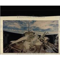 1985 Press Photo Kathy Sullivan David Leestma Astronaut - RRX66909