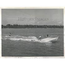 1963 Press Photo Modern Power Boats for Skiers