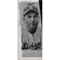 1947 Press Photo Dodgers First baseman Brooklyn cash - RRW82107
