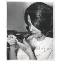 1964 Press Photo Christine Milewski Smoking - RRW31723