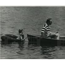 1976 Press Photo Bayou Haystackers Canoe Club - Boaters on Bayou St. John