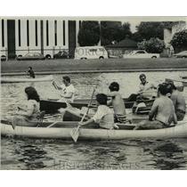 1976 Press Photo Canoe Race on Bayou St. John, Louisiana
