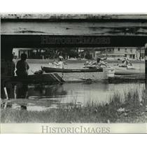 1976 Press Photo Haystackers Canoe Club - Canoe Racers on Bayou St. John