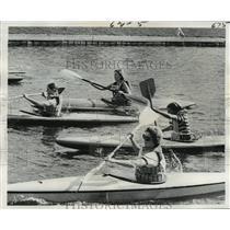 1975 Press Photo Bayou Haystackers Canoe and Kayak Club - Bayou St. John Race