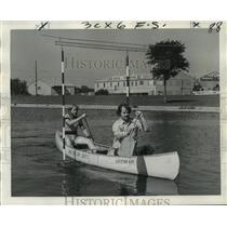 1974 Press Photo Bayou Haystackers Canoe Club - Sponsored Race on Bayou St. John