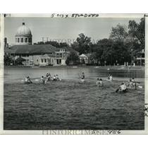 1974 Press Photo Haystackers Canoe Club - Canoe Racers on Bayou St. John