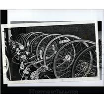 1992 Press Photo Old Bicycles Swap Meet - RRW93053