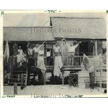 1934 Press Photo Camp of Neda and Frank Jurisich, Bayou LaChute