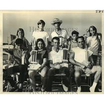 1972 Press Photo Bayou Liberty Civic Club - Pirogue Race Winners