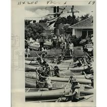 1977 Press Photo New Orleans - Start of Canoe Race on Bayou St. John - noa28196
