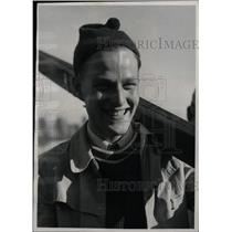 1957 Press Photo Thorbjorn Falkanger Trondheim Ski Jum - RRW80117