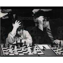 1972 Press Photo Younger Boy Playing Chess Tournament - RRW61529