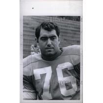 1969 Press Photo Rocky Freitas Detroit Lions Tackle - RRX39127