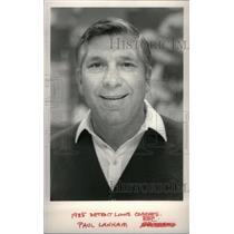 1985 Press Photo Paul Lanham Coach Lion Detroit - RRX39189