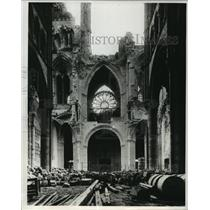1919 Press Photo Bombed-out Cathedral of SS Gervais and Protais Soissons France