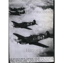"""1941 Press Photo Curtiss Wright """"Tomahawks"""" joins Royal Air Force - spw12727"""