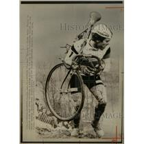 1976 Press Photo Germna Cyclist Peter Thaier France