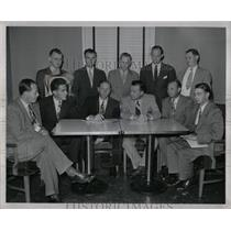 1947 Press Photo Malcolm L. Denise Ford Motor Co Mich