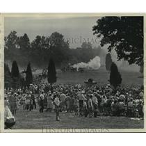 1961 Press Photo Civil War-First Mankssas reenactment - abna03200