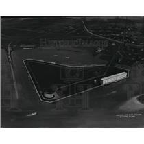 1963 Press Photo McDuffie Island Facilities Sketch, Mobile, Alabama, State Docks