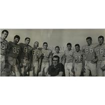 1966 Press Photo Alabama-Woodlawn High School coach and five sets of brothers.