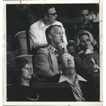 1974 Press Photo Pensive Gordie Howe sitting in stands - hca00987