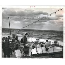 1968 Press Photo Shooting clay pigeons from the deck of the Cabo Izarra