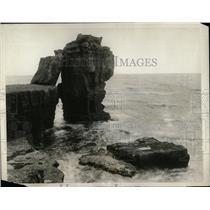 1929 Press Photo Pulpit Rock Portland granite red Edge - RRX80527