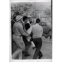 1961 Press Photo Red Cross Workers Carry Wounded Congo - RRX70995