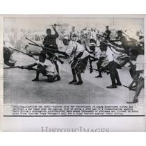 1960 Press Photo Ghanians perform War Dance in Accra.