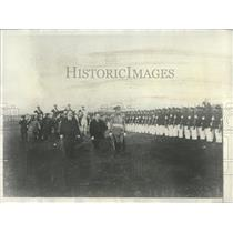 1928 Press Photo Dr Ayala Inspecting Paraguay Soldiers - RRX85397