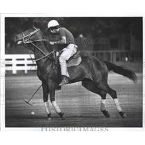 1977 Press Photo Stephen Bell rides at the Houston Polo Club - hca01506