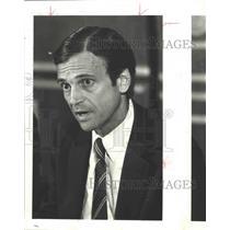1987 Press Photo Frank Lorenzo, airline executive - hca01677