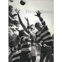 1971 Press Photo Getting hit on Rugby, Houston Rugby Club - hca02128