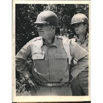 1944 Press Photo Lt Gen Daniel Sultan Commanding 8th Army Corps in Louisiana
