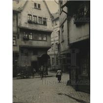 1930 Press Photo Streets of Sachsenhausen, suburb of Frankfurt, Germany