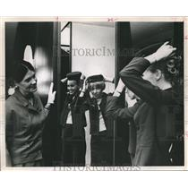 1968 Press Photo Airline hostesses dress for work, Eastern Airlines - hca03632