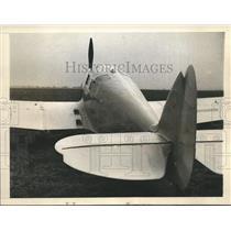 1956 Press Photo Mrs.Beryl Markham Light Percival Gull Plane - sbx08620