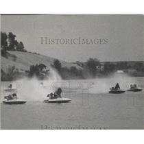 1963 Press Photo Small hydroplane boat race. - sps19493