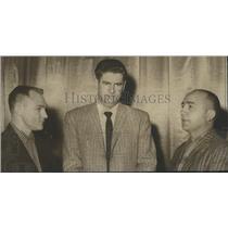 1960 Press Photo Alabama-Three North All-Star football coaches at meeting.