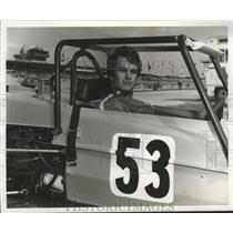 1971 Press Photo Daytona-Race car driver, James Caldwell poses in his race car.