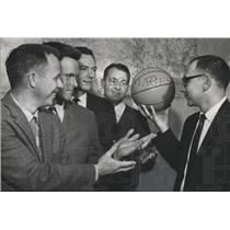 1966 Press Photo Alabama-Basketball Classic Chairman ponders as to who'll play.