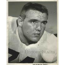 1958 Press Photo Auburn University Football Team Offensive Tackle Jim Jeffrey
