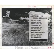 1962 Press Photo Major Milestones, Emancipation Proclamation - hca03928