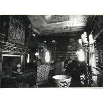 1990 Press Photo Library of the Biltmore Estate in Asheville, North Carolina
