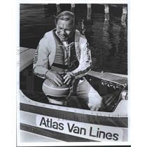 1978 Press Photo Boat racing legend Bill Muncey in the cockpit - spb21726